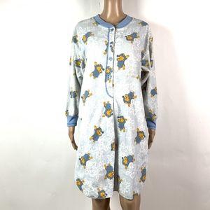 Vintage Disney Winnie The Pooh Nightgown Flannel